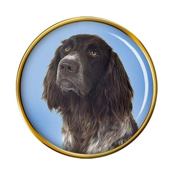 German Longhaired Pointer Pin Badge