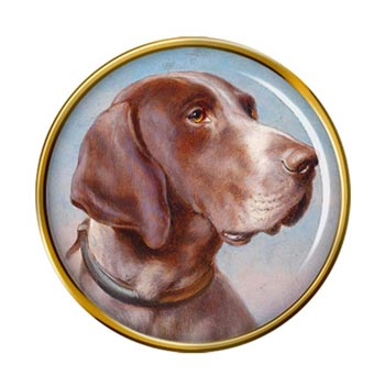 German Shorthaired Pointer by Carl Reichert Pin Badge