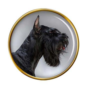 Giant Schnauzer Pin Badge