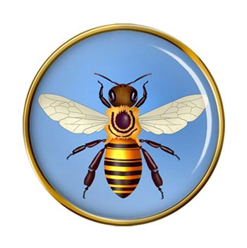 Honey Bee (Honeybee) Pin Badge