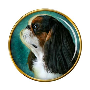 King Charles Toy Spaniel Pin Badge