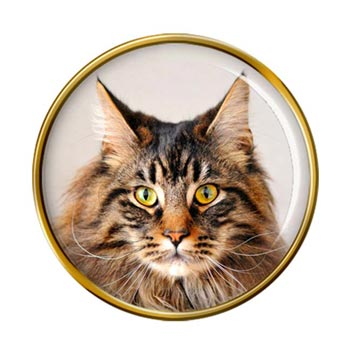 Maine Coon Cat Pin Badge