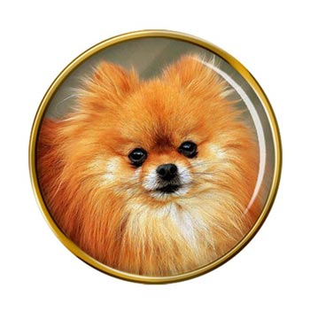 Pomeranian Dog (Zwergspitz) Pin Badge