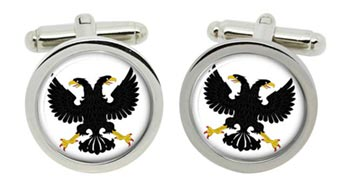 Russian Eagle Cufflinks in Chrome Box