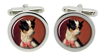 Toy Pinscher by Carl Reichert Cufflinks in Chrome Box