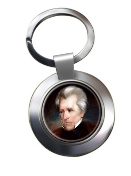 President Andrew Jackson Chrome Key Ring