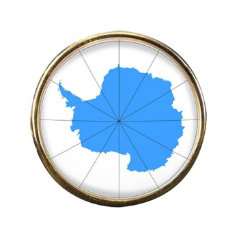Antarctica Round Pin Badge