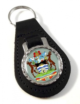 Antigua-and-Barbuda Leather Key Fob