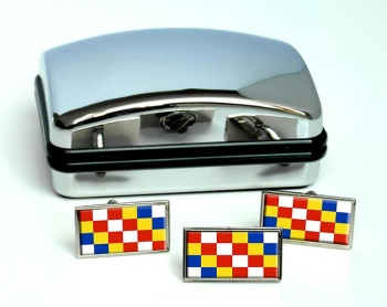 Antwerpen Anvers (Belgium) Flag Cufflink and Tie Pin Set