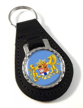 Antwerpen Anvers (Belgium) Leather Key Fob