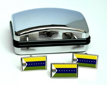 Apure (Venezuela) Flag Cufflink and Tie Pin Set