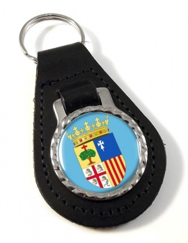 Aragon (Spain) Leather Key Fob