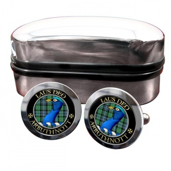 Arbuthnott Scottish Clan Round Cufflinks