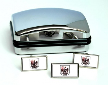 Argentine Buenos Aires City Flag Cufflink and Tie Pin Set