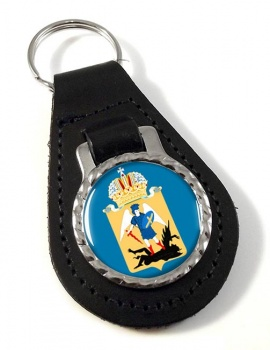 Arkhangelsk Oblast Leather Key Fob