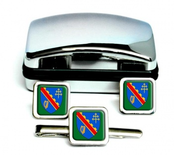County Armagh (UK) Square Cufflink and Tie Clip Set