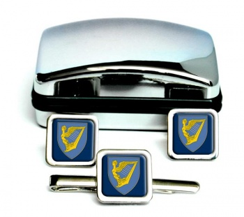 County Armagh (Historical) Square Cufflink and Tie Clip Set