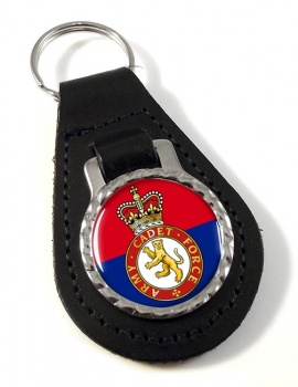 Army cadets Leather Key Fob