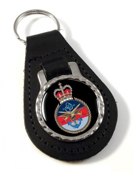 Joint Services Leather Key Fob