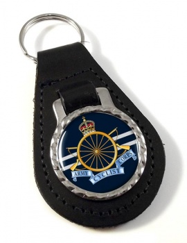 Army Cyclist Corps Leather Key Fob