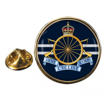 Army Cyclist Corps Round Pin Badge
