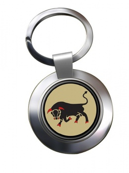 11th Infantry Brigade & HQ South East  (British Army) Chrome Key Ring