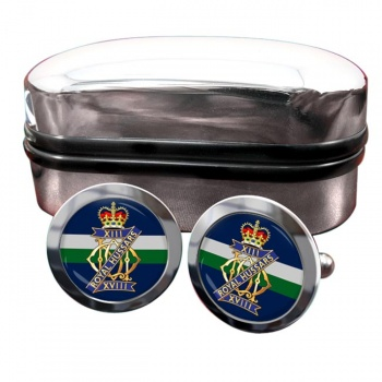 13th-18th Royal Hussars (Queen Mary's Own) British Army Round Cufflinks