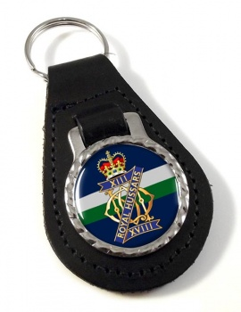 13th-18th Royal Hussars (Queen Mary's Own) British Army Leather Key Fob