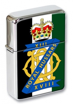 13th-18th Royal Hussars (Queen Mary's Own) British Army Flip Top Lighter