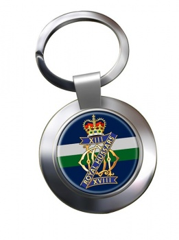 13th-18th Royal Hussars (Queen Mary's Own) British Army Chrome Key Ring