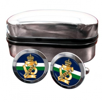13th Hussars (British Army) Round Cufflinks