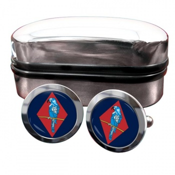 143 (West Midlands) Brigade Round Cufflinks