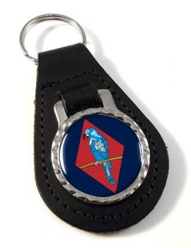 143 (West Midlands) Brigade Leather Key Fob