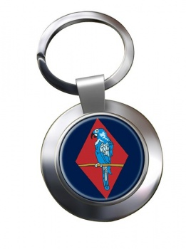143 (West Midlands) Brigade Chrome Key Ring