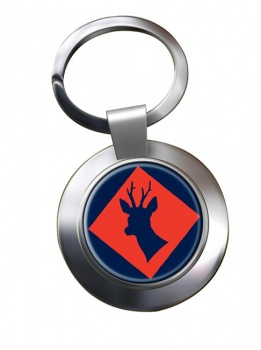 145 (South) Brigade Chrome Key Ring
