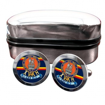 15th The King's Hussars Round Cufflinks