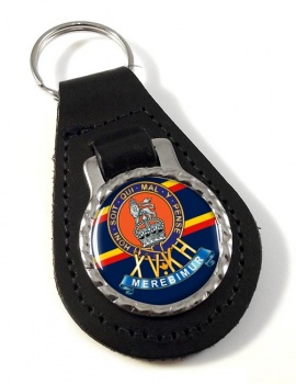 15th The King's Hussars Leather Key Fob