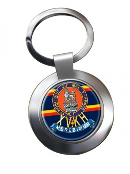 15th The King's Hussars (British Army) Chrome Key Ring