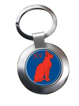 15th Signal Regiment (British Army) Chrome Key Ring