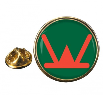 160th Infantry Brigade & HQ Wales Round Pin Badge