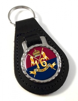 16th The Queen's Lancers Leather Key Fob