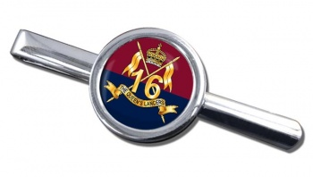 16th The Queen's Lancers Round Tie Clip
