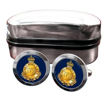 18th Royal Hussars (Queen Mary's Own) Round Cufflinks