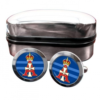19th Royal Hussars (Queen Alexandra's Own) British Army Round Cufflinks