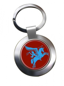 1st Airborne Division (British Airborne Forces) Chrome Key Ring