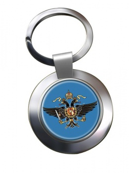 1st Queen's Dragoon Guards (British Army) Chrome Key Ring