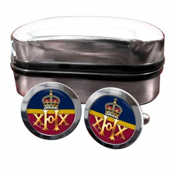 20th Hussars Round Cufflinks