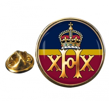 20th Hussars Round Pin Badge