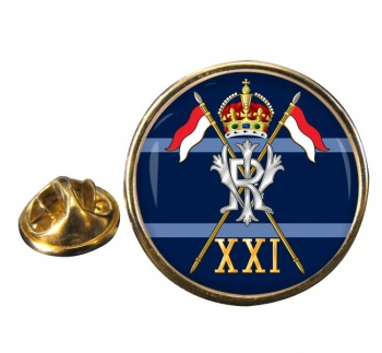 21st Lancers British Army (Empress of India's) Round Pin Badge