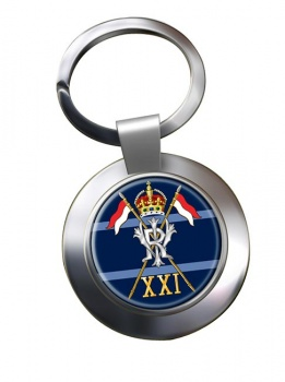 21st Lancers British Army (Empress of India's) Chrome Key Ring